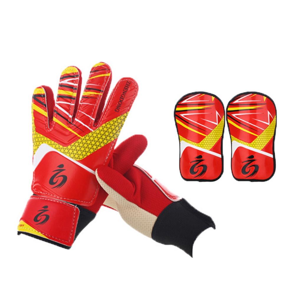 Вратарские перчатки ZHENGDONG Детские и щитки, красный цена