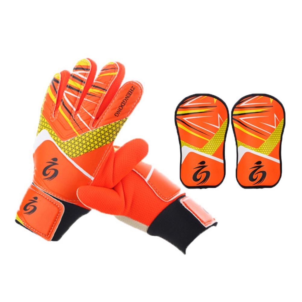 Вратарские перчатки ZHENGDONG Детские и щитки, оранжевый цена