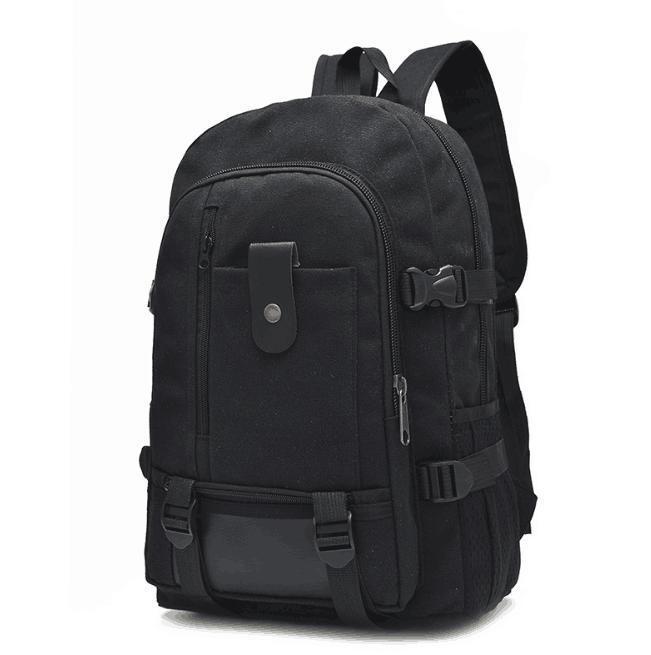 Рюкзак TopSeller Походный на молнии, черный