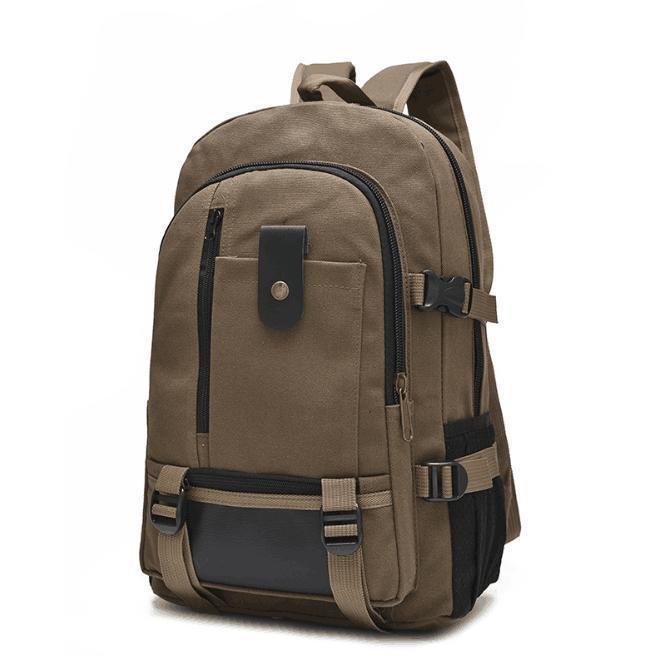 Рюкзак TopSeller Походный на молнии, коричневый