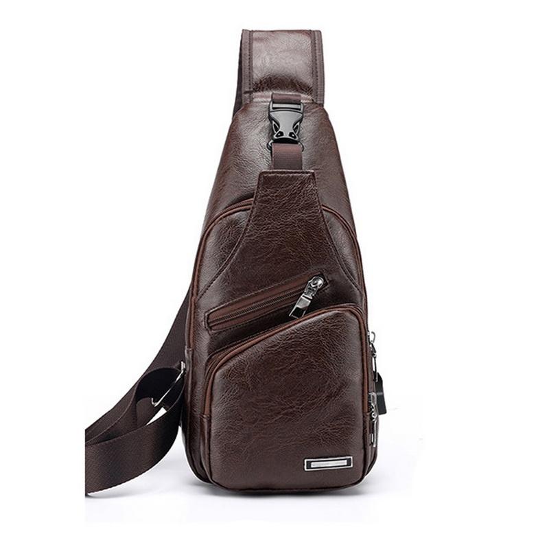 muzee парусиновая мужская сумка через плечо сумка на поясе Сумка плечевая TopSeller Сумка-рюкзак через плечо, темно-коричневый