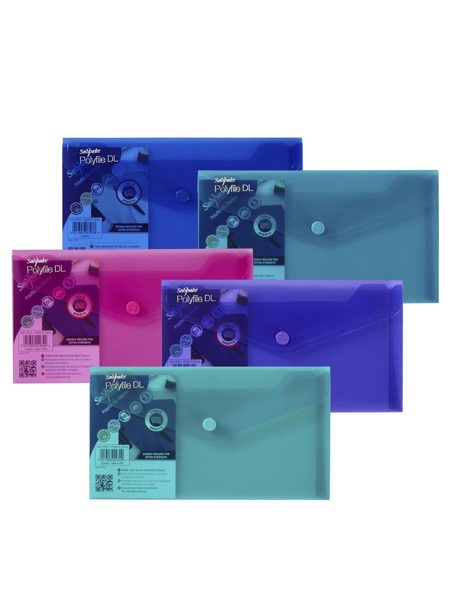 Купить Папка Snopake 10035P, розовый, бирюзовый, фиолетовый, зеленый, синий на XWAP.SU