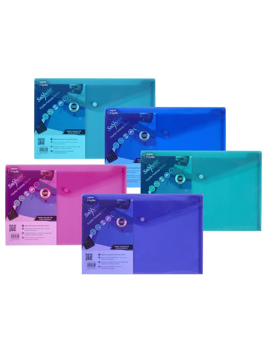 Папка Snopake 10088P, голубой, синий, розовый, зеленый, фиолетовый