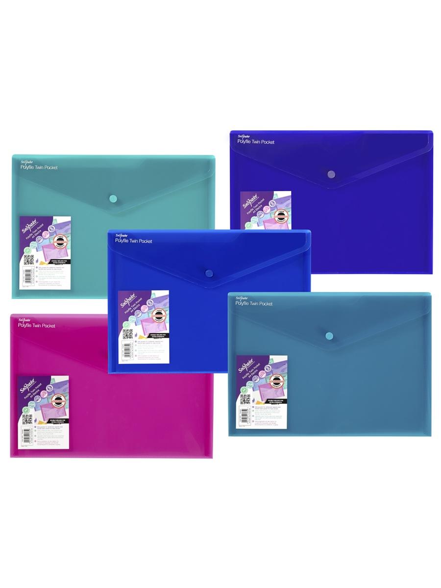 Папка Snopake 15691P, голубой, синий, розовый, зеленый, фиолетовый
