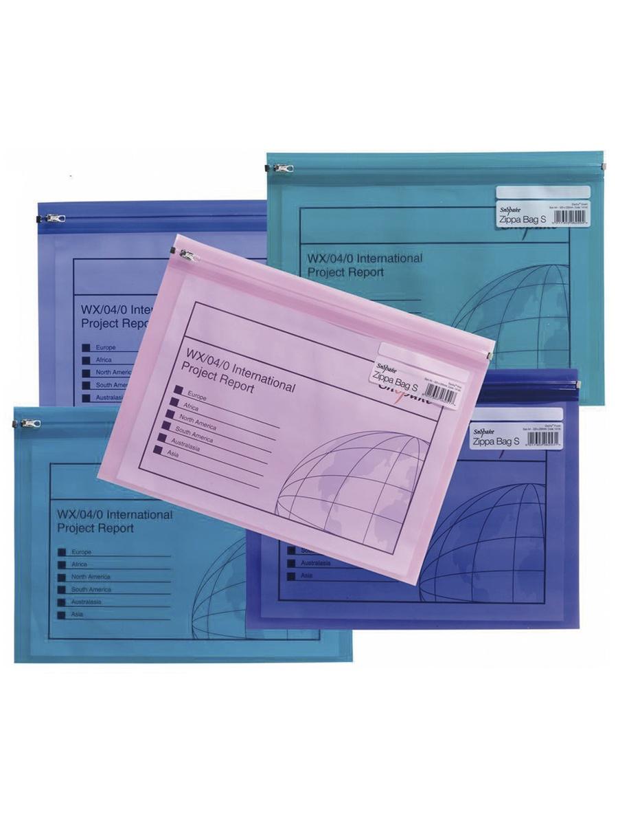 Папка Snopake 14141P, фиолетовый, синий, зеленый, розовый
