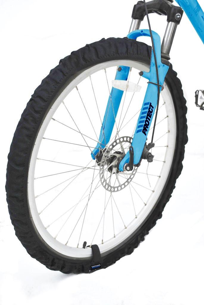 Чехол для велосипеда PROTECT эластичные чехлы на колеса, черный