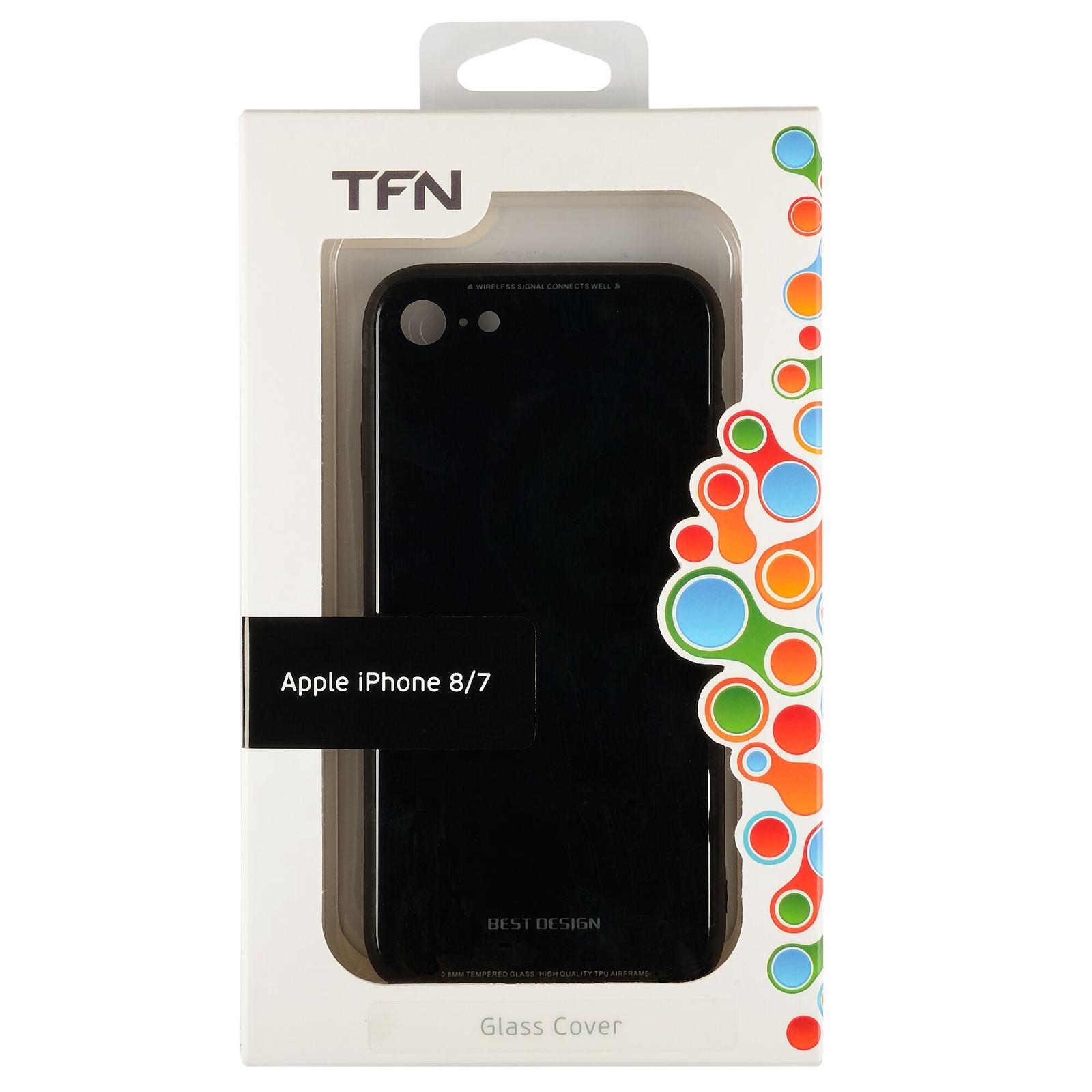 Чехол для сотового телефона TFN Защитный чехол для iPhone 7/8 Черный, черный чехол книжка для apple iphone 7 8 sgp valentinus черный