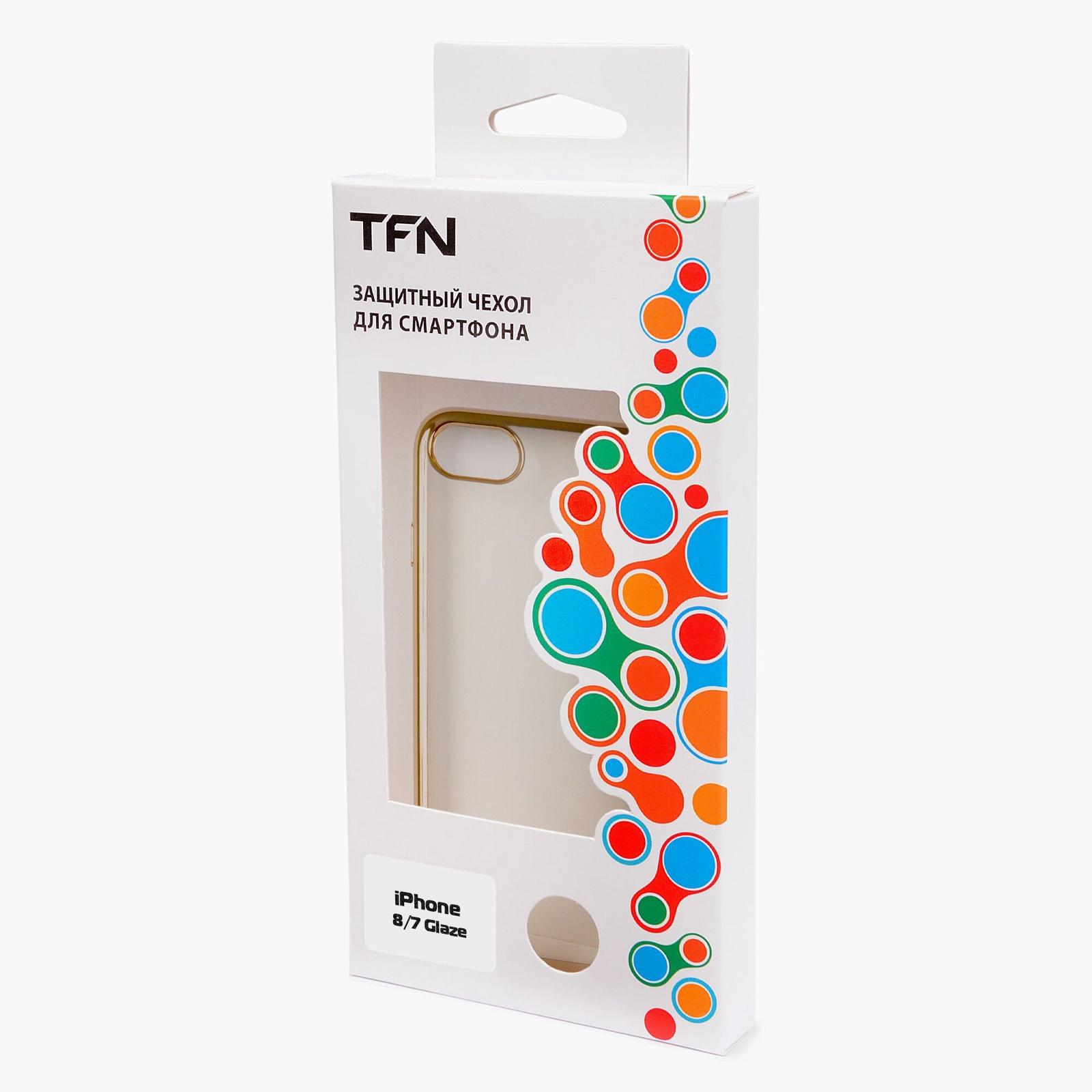 Чехол для сотового телефона TFN Защитный чехол для iPhone 7/8 Золотистый, золотой защитный чехол koolife для iphone 7 8