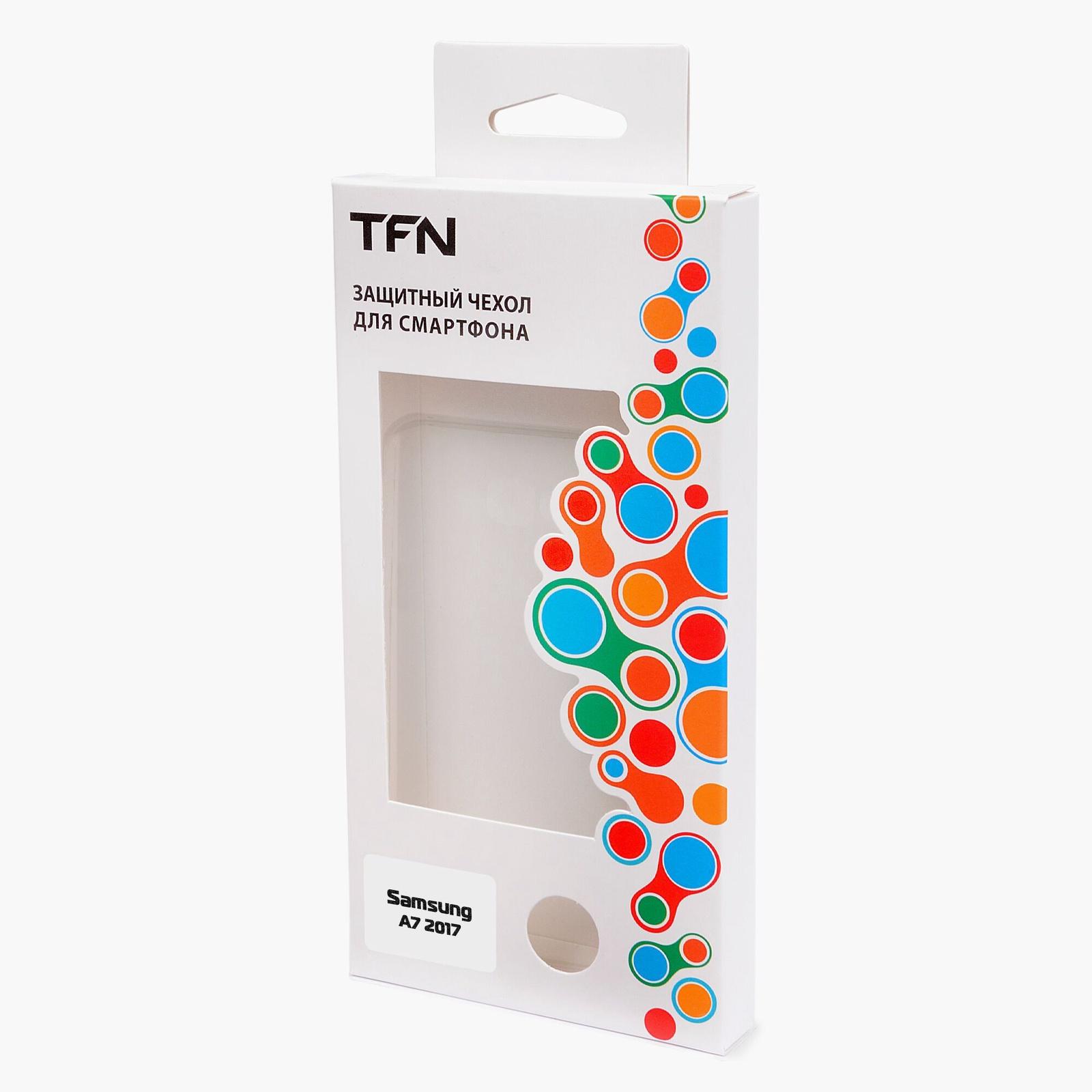 Чехол для сотового телефона TFN Защитный чехол Силиконовый для Samsung A7 2018 mooncase s линия мягкий силиконовый гель тпу защитный чехол гибкой оболочки защитный чехол для sony xperia e4 белый