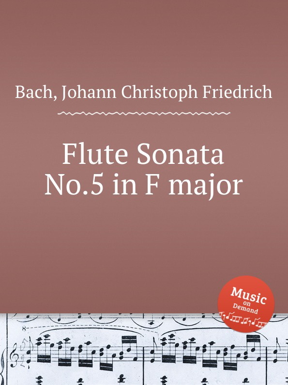 цена J.C.F. Bach Flute Sonata No.5 in F major в интернет-магазинах