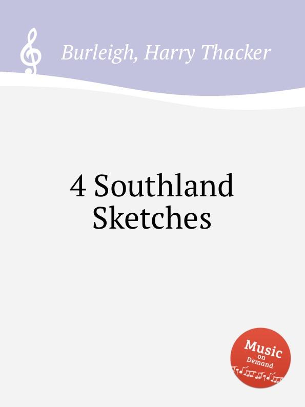 H. Th. Burleigh 4 Southland Sketches w h lanyon 2 sketches