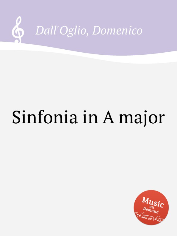 D. Dall'Oglio Sinfonia in A major