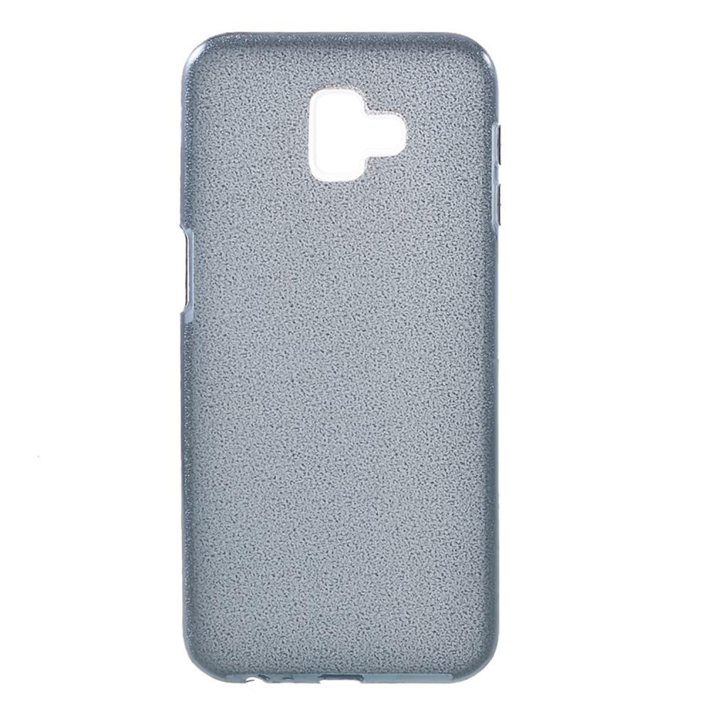 Чехол для сотового телефона Мобильная мода Samsung J6 Plus Накладка силиконовая с блестками, серый