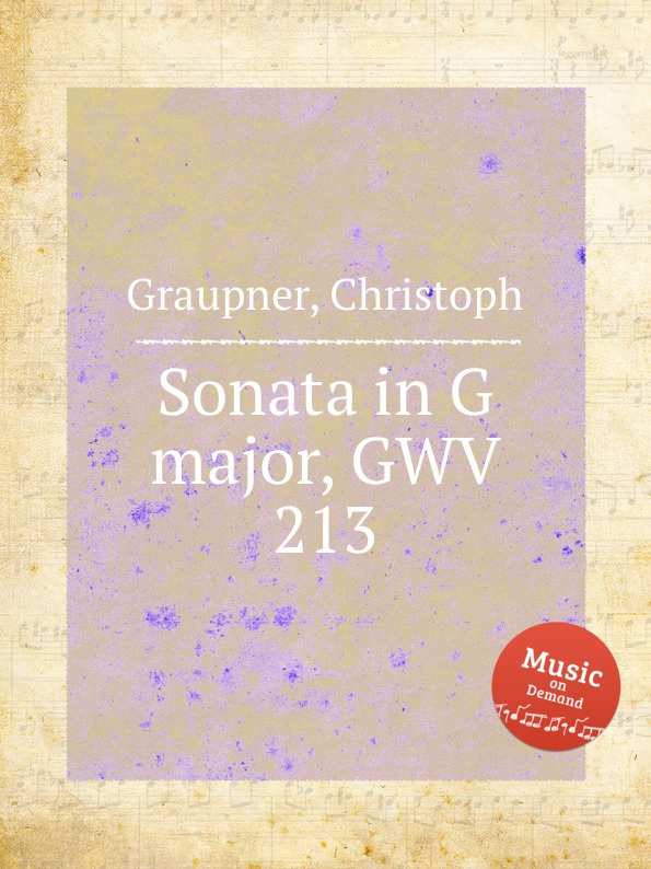 C. Graupner Sonata in G major, GWV 213 c graupner trio sonata in d major gwv 204