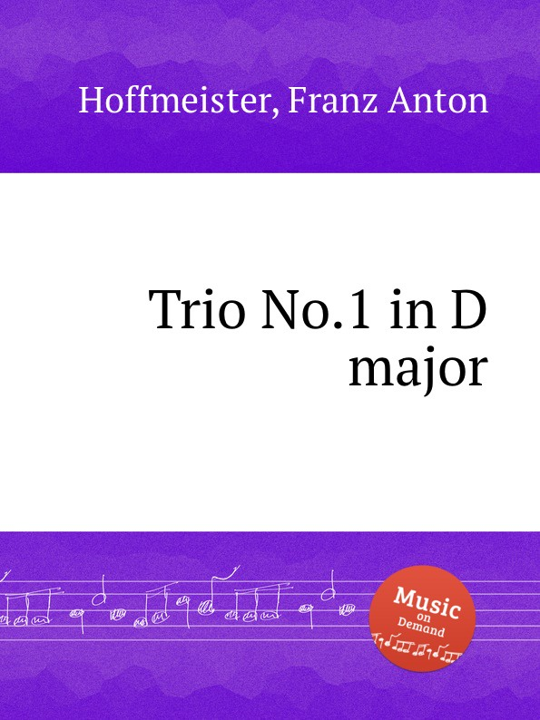 F.A. Hoffmeister Trio No.1 in D major f a hoffmeister flute duet in d major
