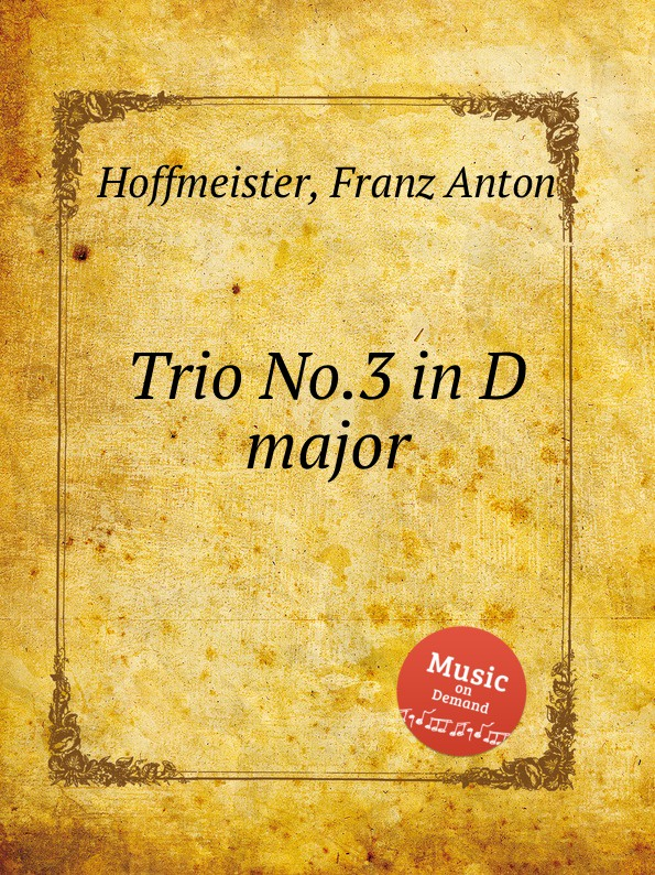 F.A. Hoffmeister Trio No.3 in D major f a hoffmeister flute duet in d major