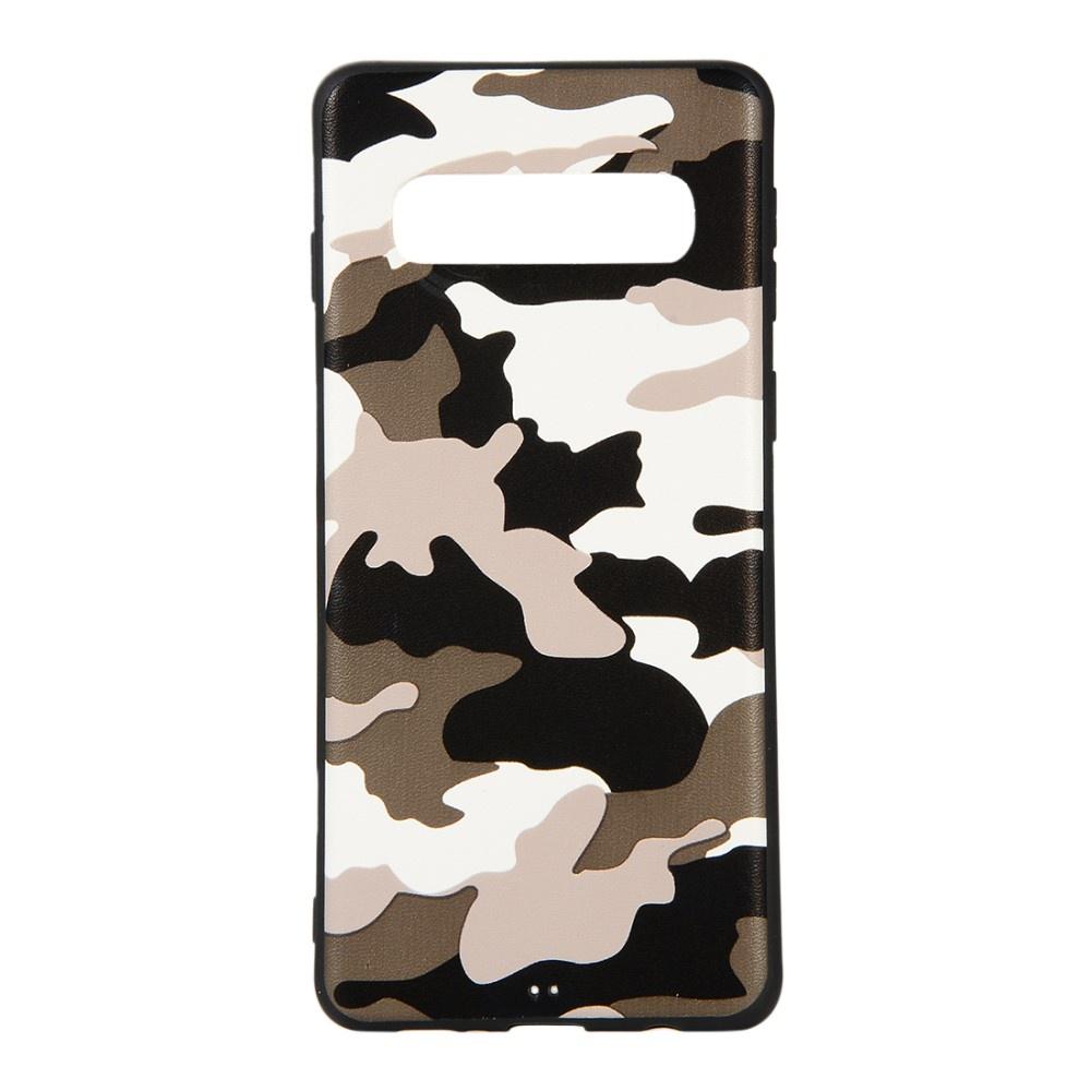 Чехол для сотового телефона Мобильная мода Samsung S10 Накладка силиконовая с камуфляжным узором, белый чехол для сотового телефона мобильная мода samsung grand prime g530 j2 prime накладка силиконовая jelly case