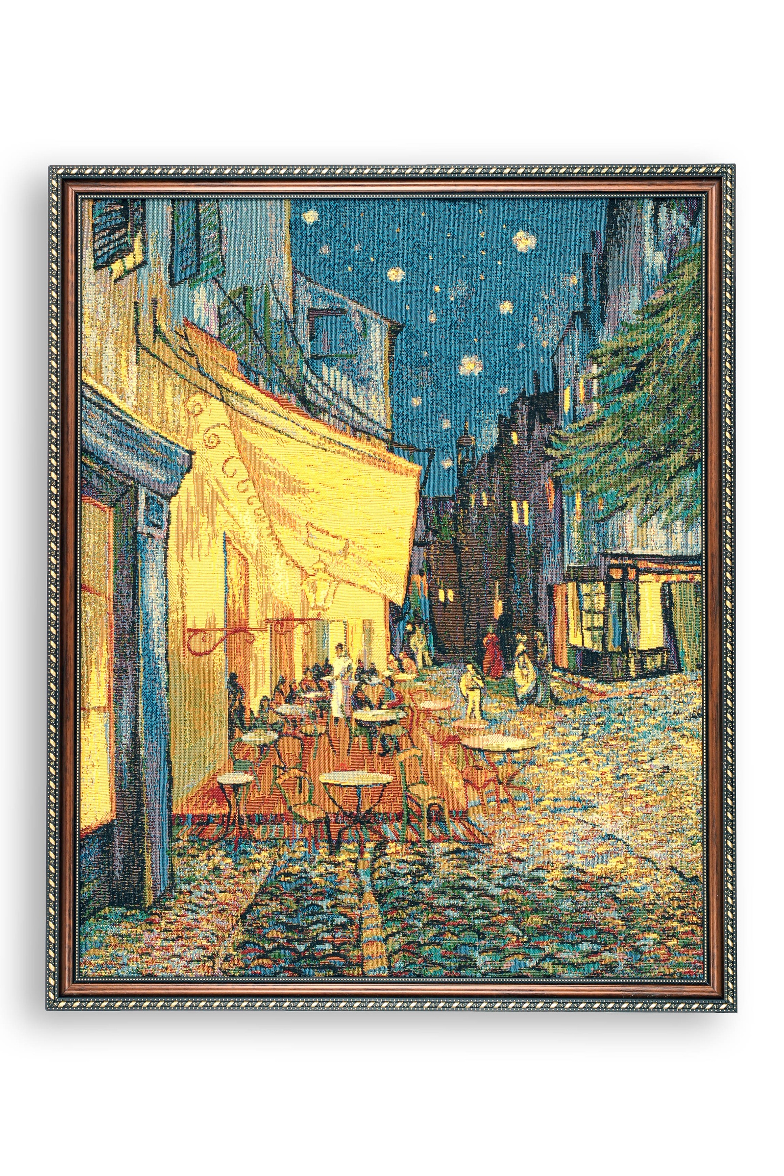 Картина Магазин гобеленов Ван Гог терраса ночного кафе 56*70 см, Гобелен закладка с резинкой ван гог ночная терраса кафе арте
