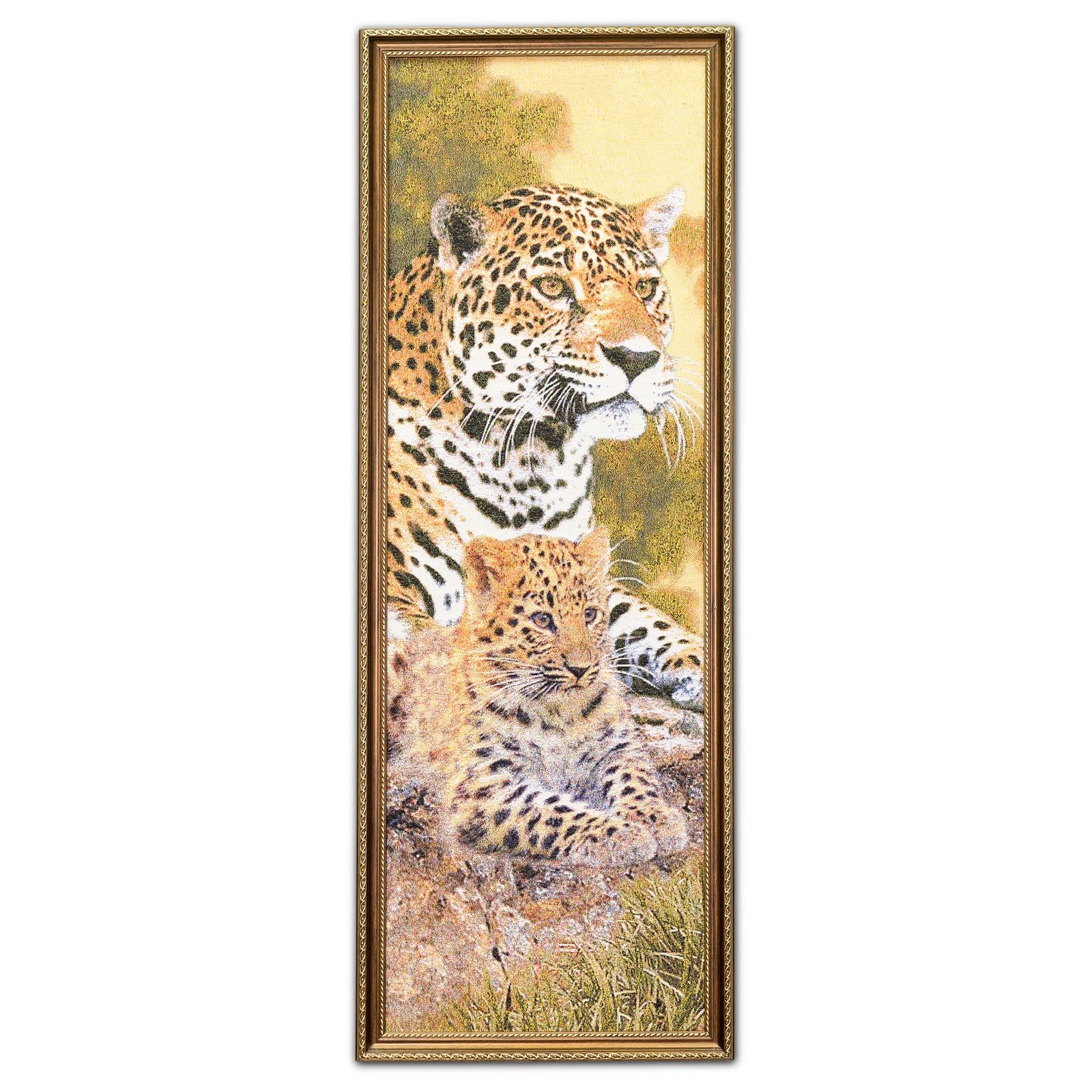 Гобелен картина гепарды 34*93 см магазин 95 градусов все для бани