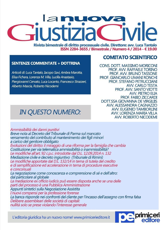 Luca Tantalo La Nuova Giustizia Civile (Numero 4/2014) luca debiti da qui all eternita