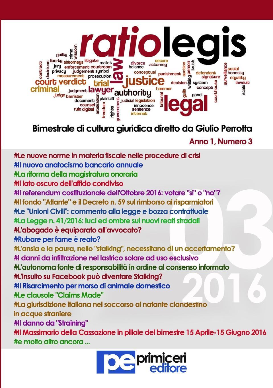 Giulio Perrotta Ratio Legis (Numero 3, Anno 2016) цена 2017