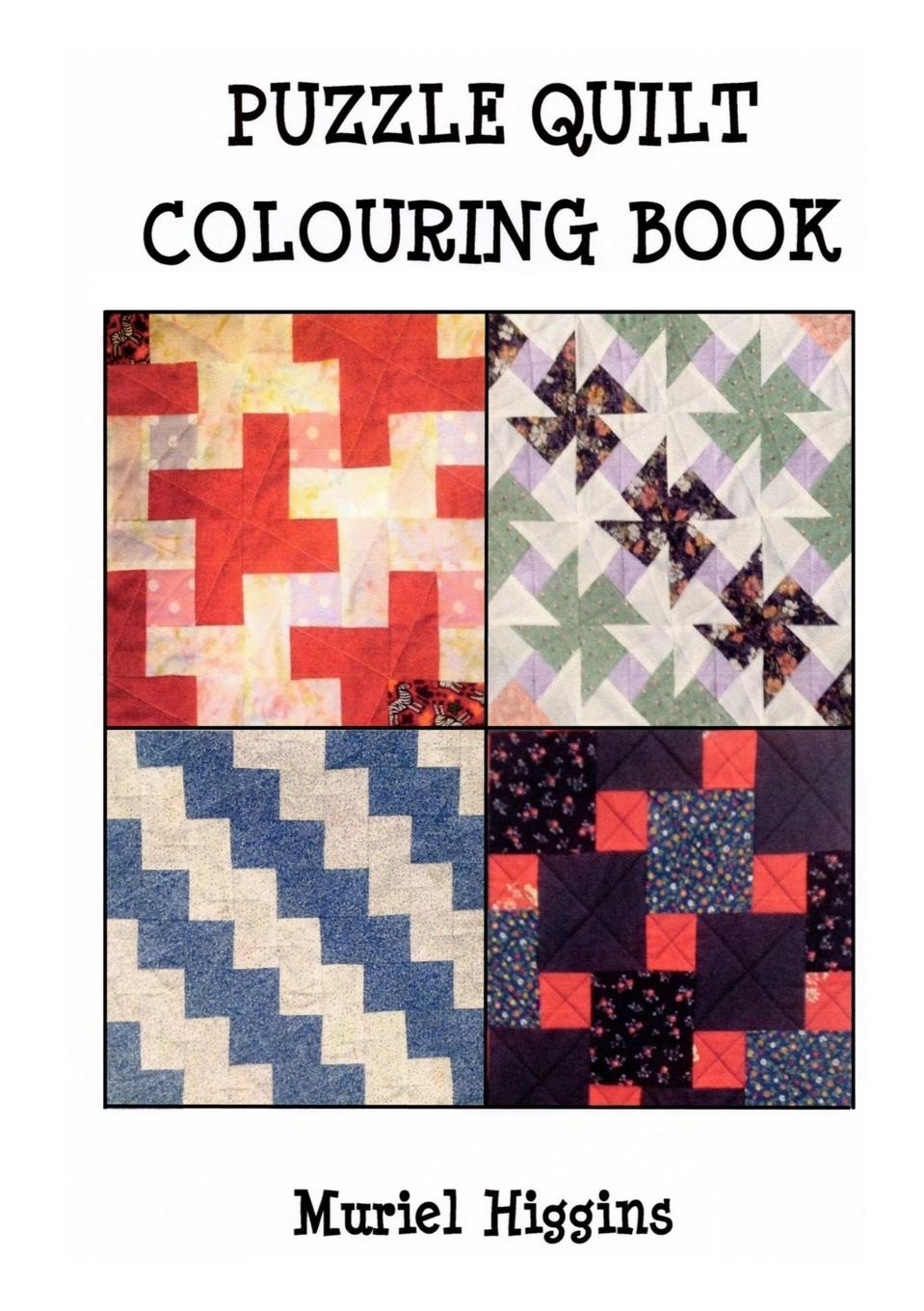 Muriel Higgins Puzzle Quilt Colouring Book colouring book jungle with rub down transfers