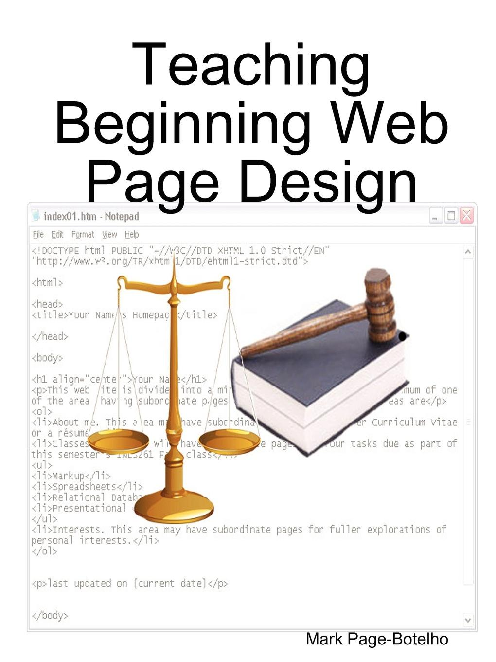 Mark Page-Botelho Teaching Beginning Web Page Design mark page botelho teaching beginning web page design