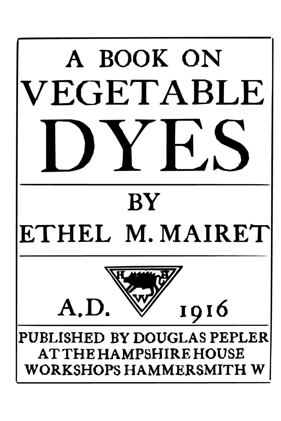 Фото - Ethel M. Mairet A Book on Vegetable Dyes concise colour block and circle pattern design men s slippers