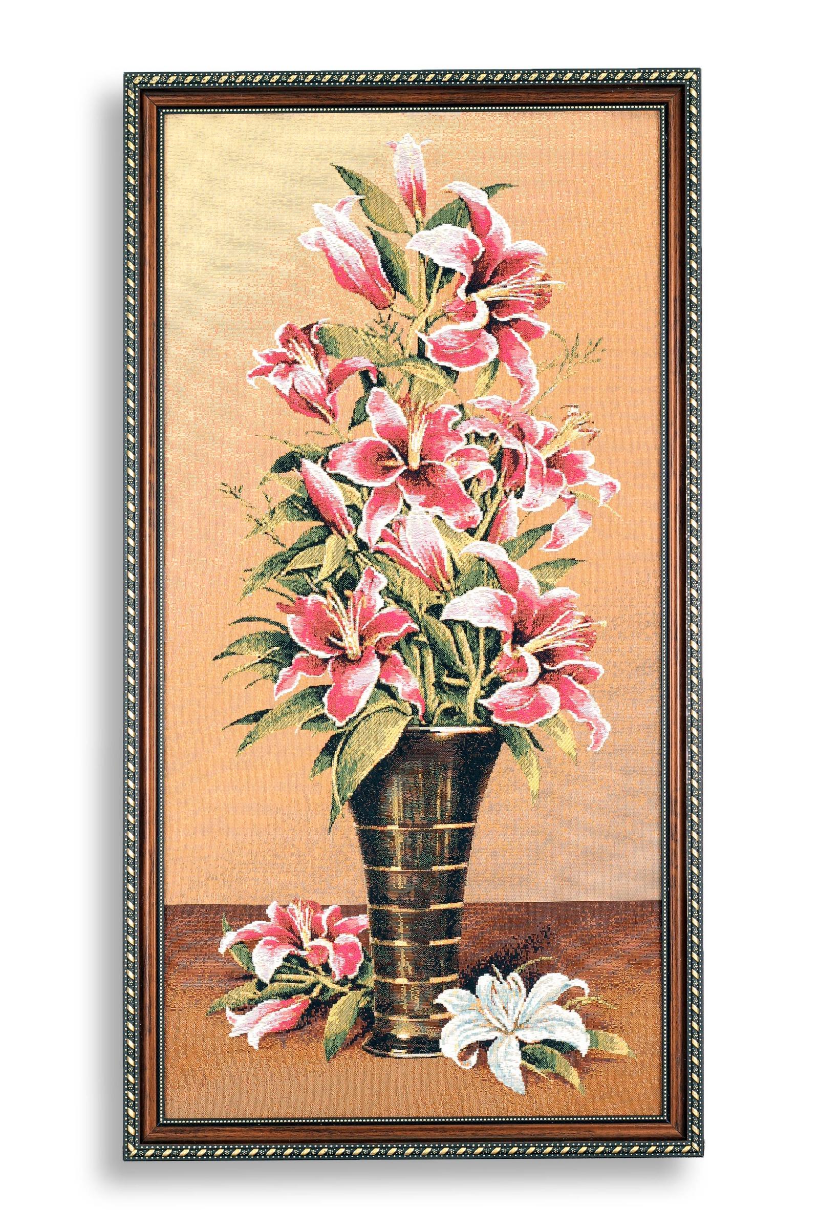Фото - Картина Магазин гобеленов букет лилии 39*73 см, Гобелен гобелен картина интерьерная магазин гобеленов букет роз бордюр 65 на 85 см