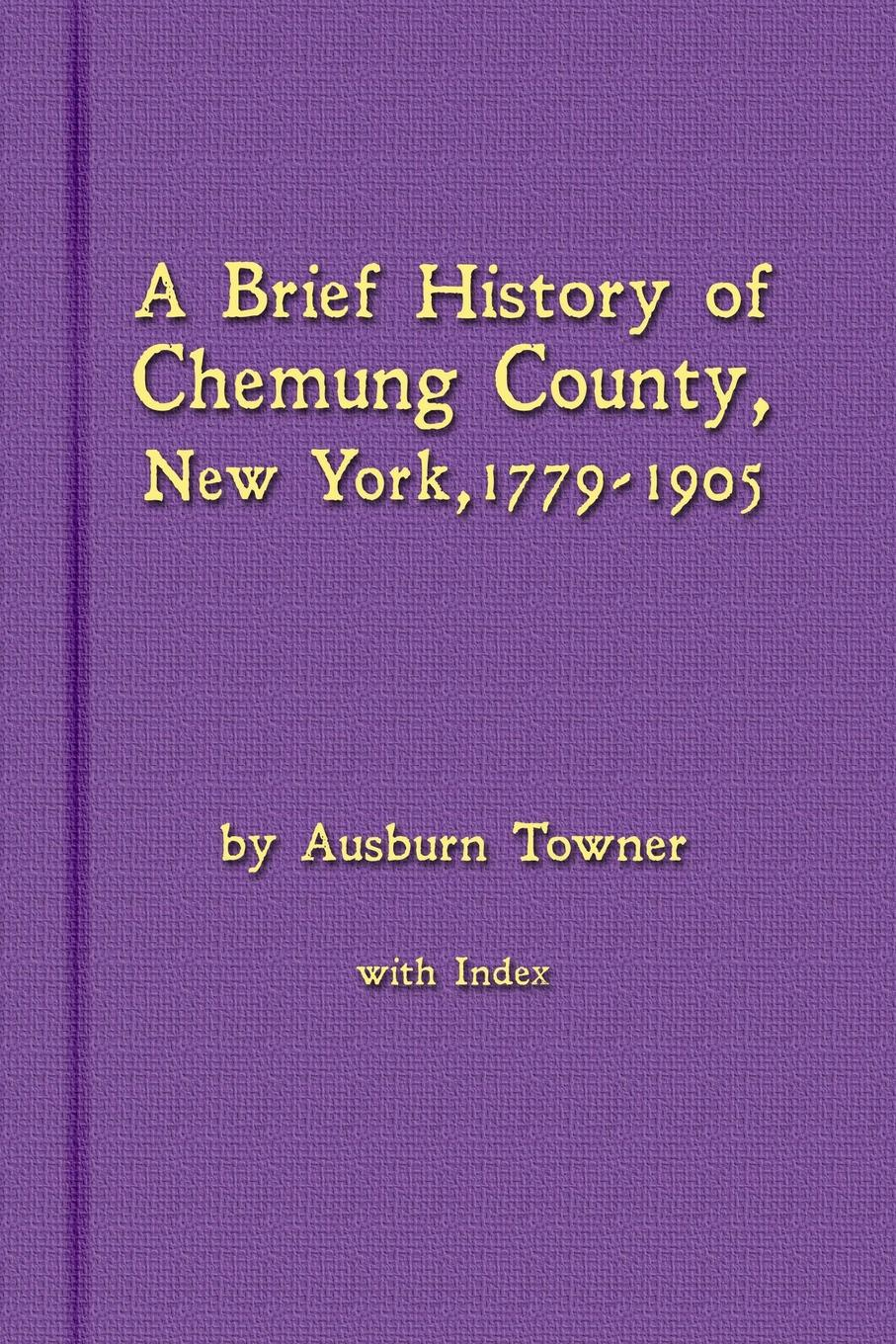 Ausburn Towner A Brief History of Chemung County, New York, 1779 -1905 with Index t apoleon cheney historical sketch of the chemung valley new york elmira and chemung county and broome herkimer livingston montgomery onondaga ontario otsego schoharie schuyler steuben tioga ulster counties