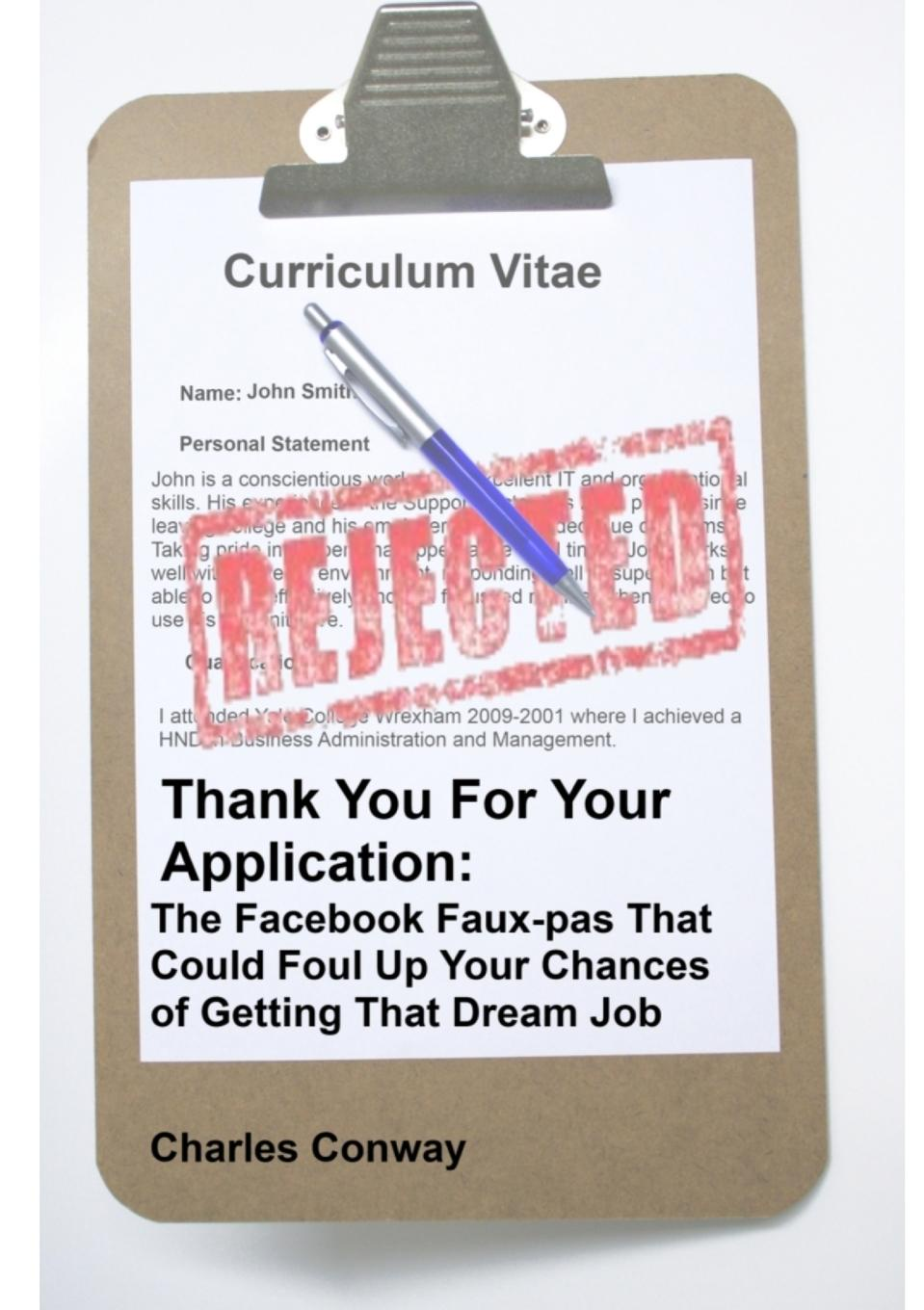 Charles Conway Thank You for Your Application. The Facebook Faux-Pas That Could Foul Up Your Chances of Getting That Dream Job pocket patched zipper up faux patent skirt