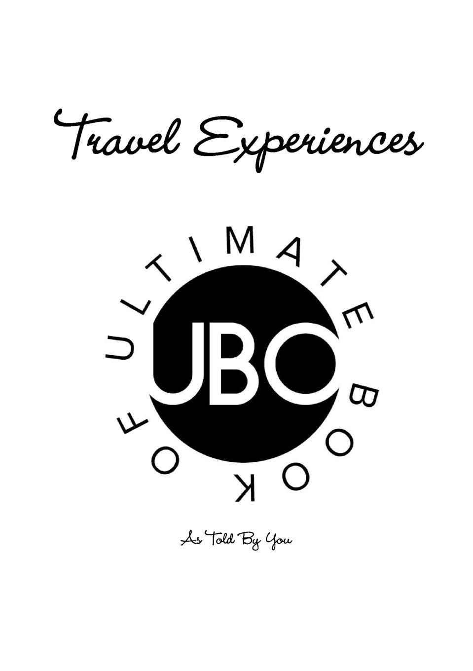 Jake Ryan Ultimate Book Of. Travel Experiences