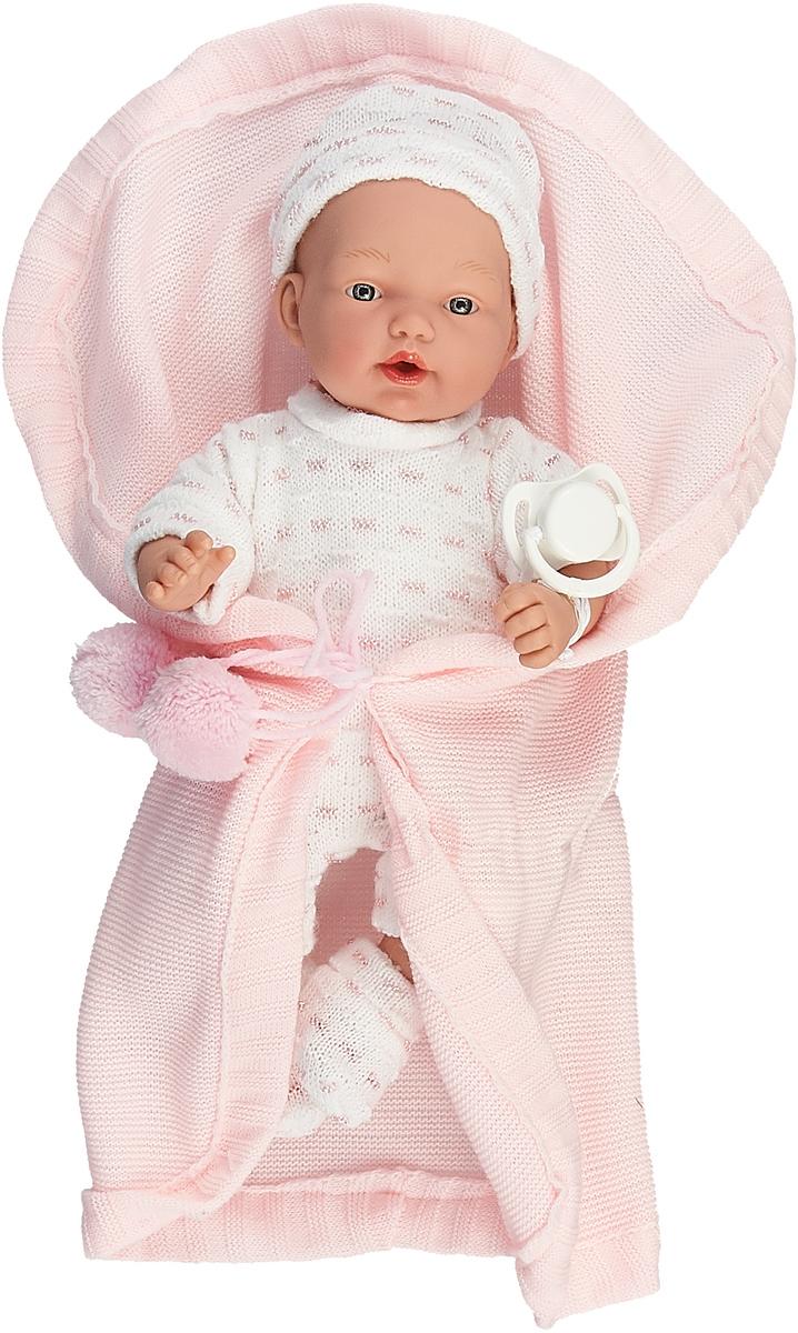 Пупс Arias Elegance, в одежде, в конверте, с соской, Т16340, розовый, 28 см пупс arias elegance в одежде с соской и конвертом 42 см т11098
