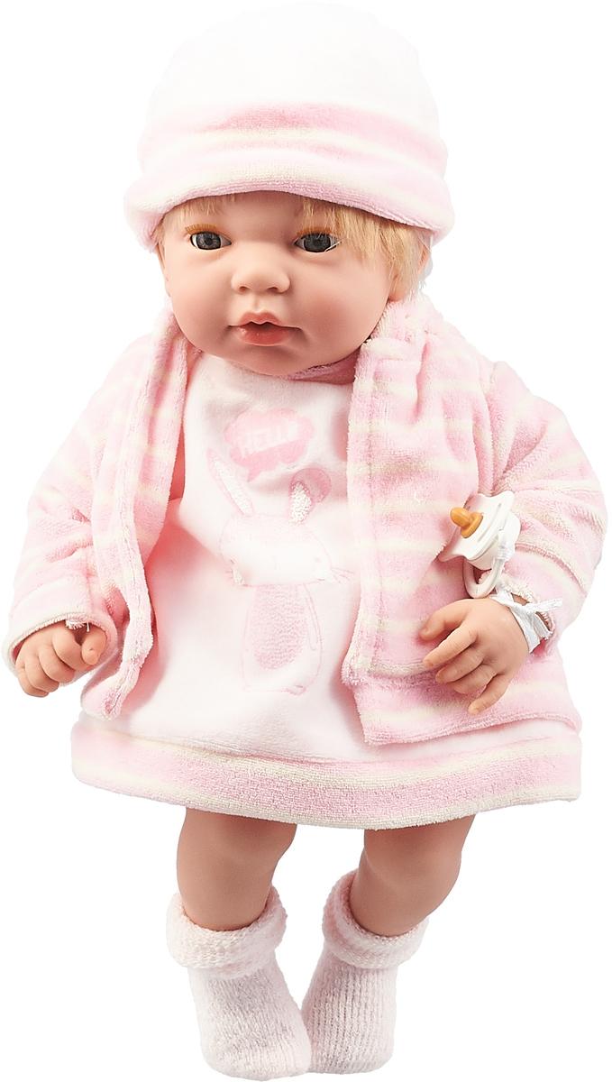 Пупс Arias Elegance, в одежде, с закрывающимися глазами, с соской, Т16354, розовый, 38 см пупс arias elegance в одежде с соской и конвертом 42 см т11098