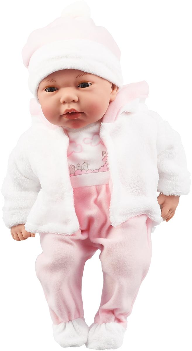 Пупс Arias Elegance, в одежде, с закрывающимися глазами, с соской, Т16348, розовый, 38 см пупс arias elegance в одежде с соской и конвертом 42 см т11098