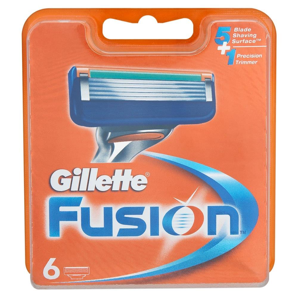 Сменные кассеты для бритв Gillette Сменные лезвия Fusion 6 шт gillette сменные кассеты fusion proglide power 2 шт