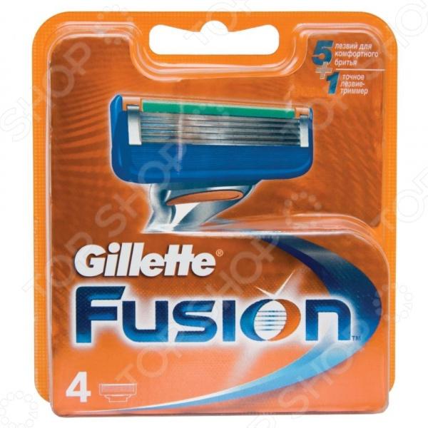 Сменные кассеты для бритв Gillette Сменные лезвия Fusion 4 шт gillette сменные кассеты fusion proglide power 2 шт