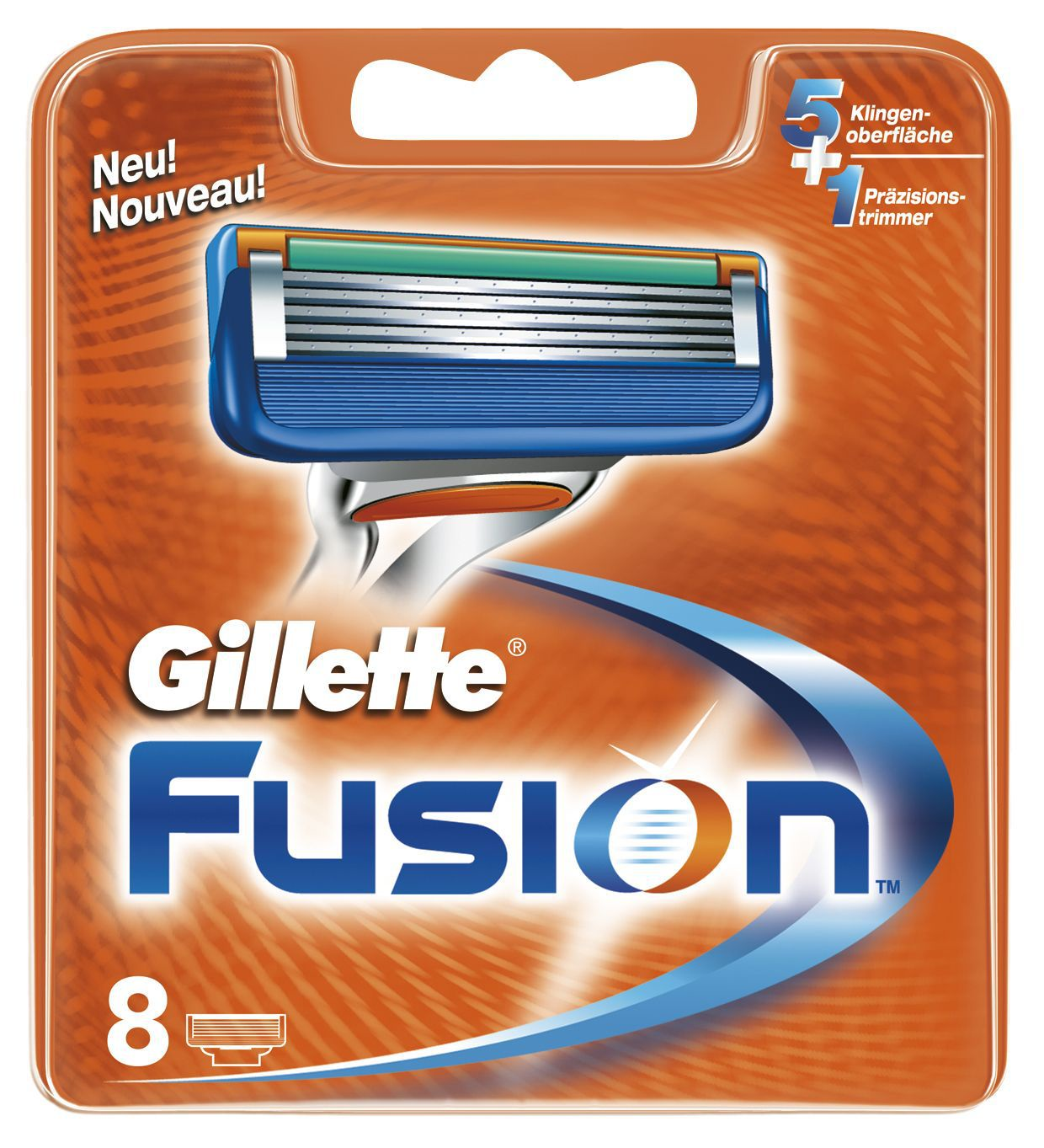 Сменные кассеты для бритв Gillette Сменные лезвия Fusion 8 шт gillette сменные кассеты fusion proglide power 2 шт
