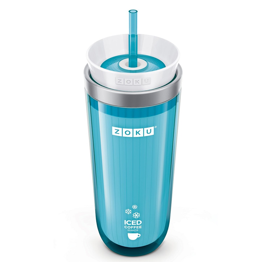 Набор столовой посуды Zoku стакан для охлаждения напитков - Iced Coffee Maker, голубой