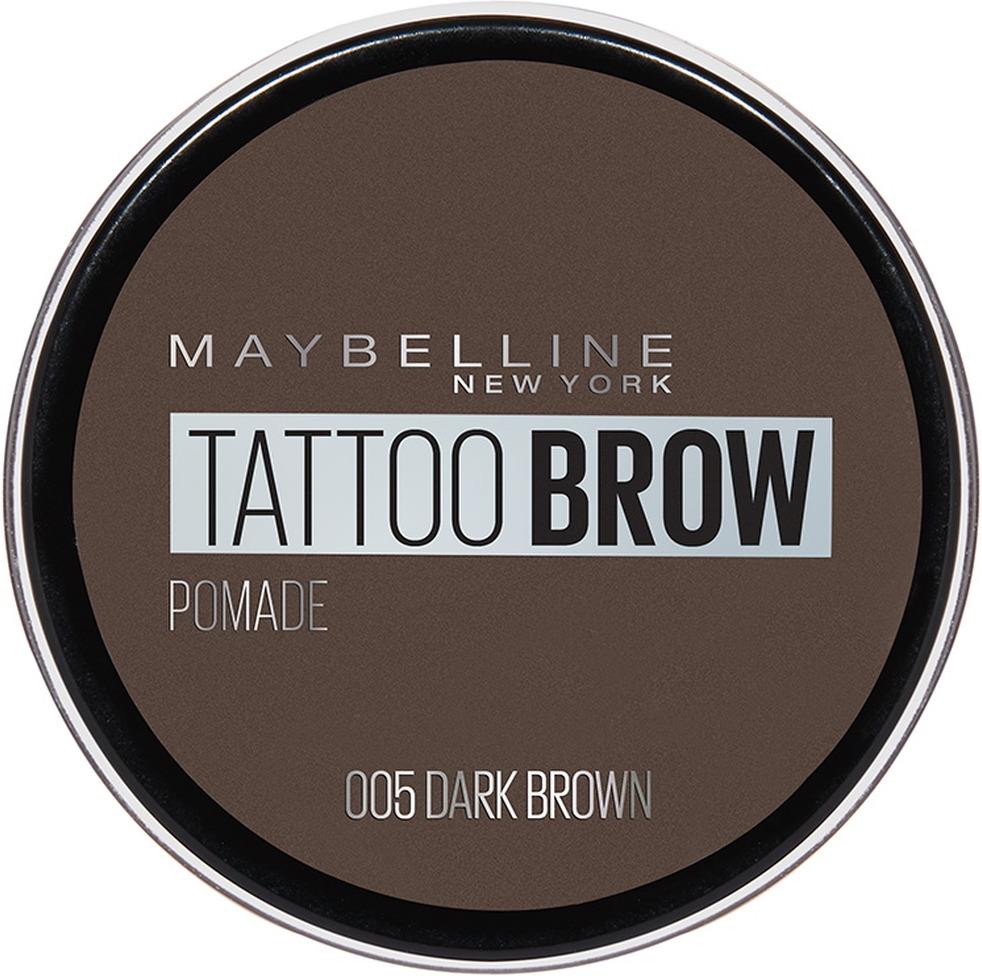 Помада для бровей Maybelline New York Brow Pomade, оттенок 05, Темно-коричневый, 3,5 г
