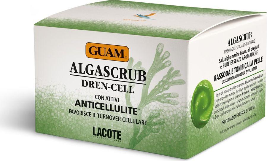 Скраб с эфирными маслами Guam Algascrub, дренажный, 300 мл guam algascrub скраб для тела увлажняющий 700 г