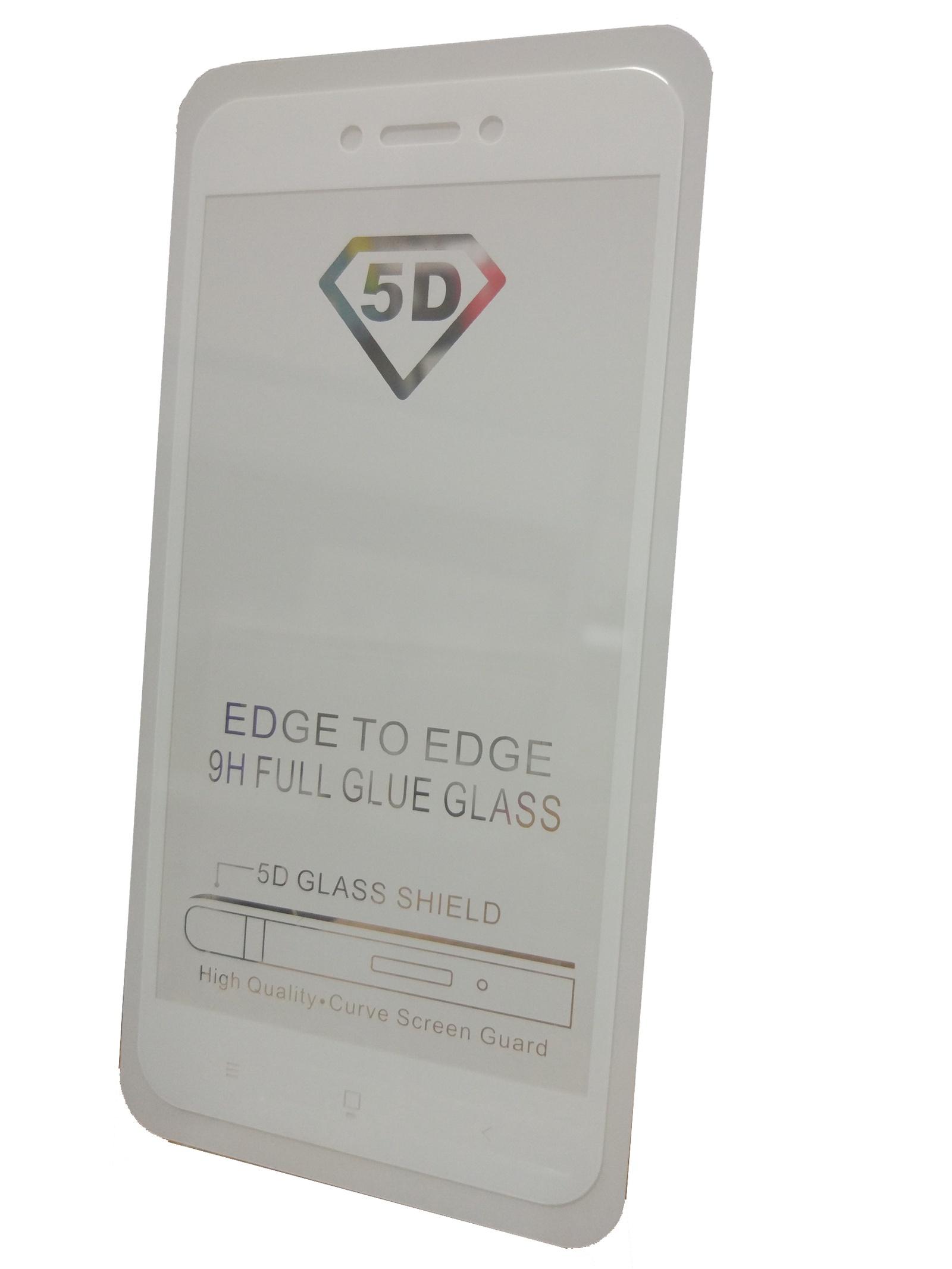 Защитное стекло Xiaomi Redmi 5A (полная проклейка белая рамка), белый защитное стекло для xiaomi redmi note 5a white