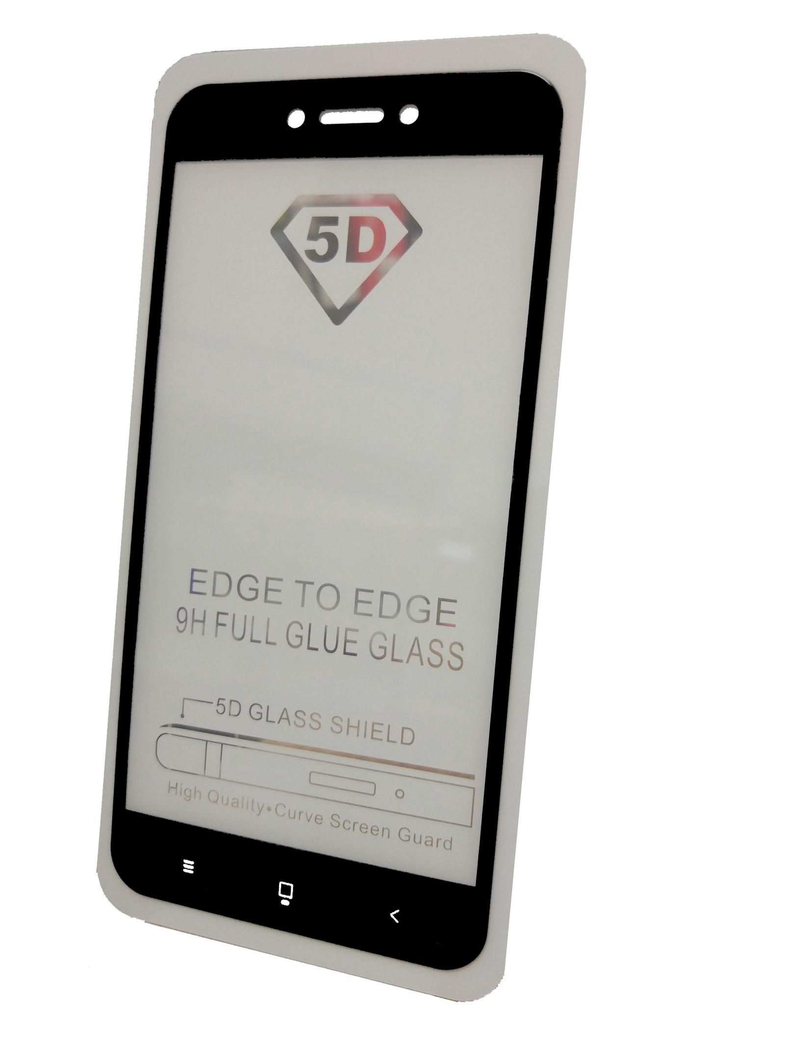 Защитное стекло Xiaomi Redmi 5A (полная проклейка черная рамка), черный защитное стекло для xiaomi redmi note 5a white