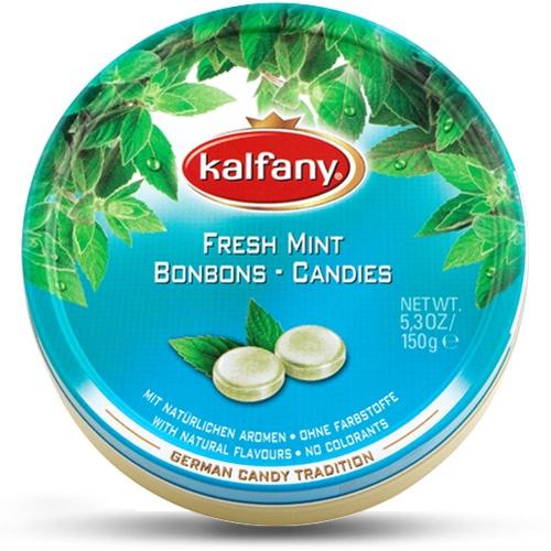 Леденцы Kalfany - немецкая леденцовая карамель : Свежая мята, Мята, 150 г актифрут карамель леденцовая лимон мята 60 г