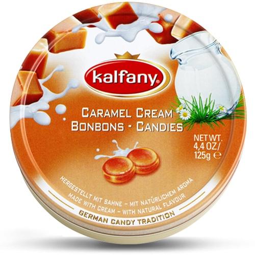 Леденцы Kalfany - немецкая леденцовая карамель : Сливочная карамель, Сливочная карамель, 125 г цена