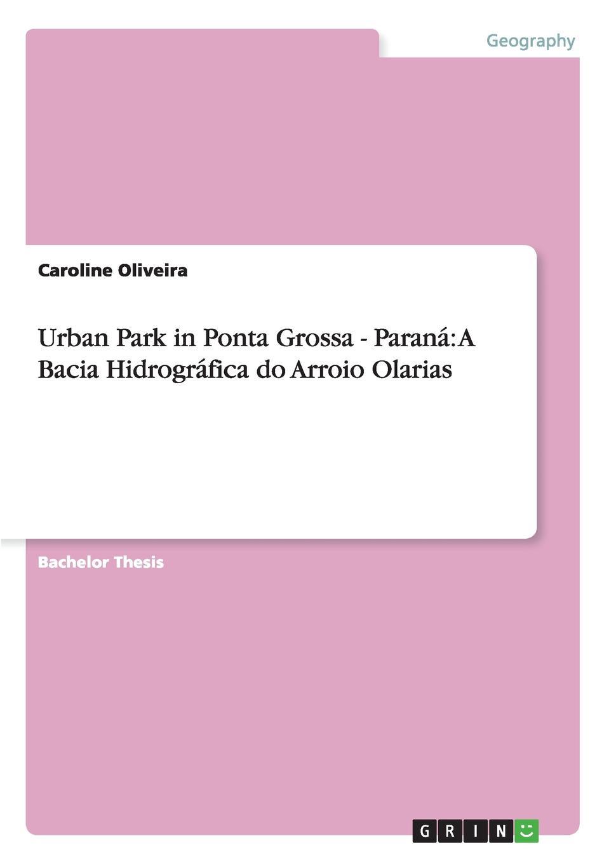 Urban Park in Ponta Grossa - Parana. A Bacia Hidrografica do Arroio Olarias. Caroline Oliveira
