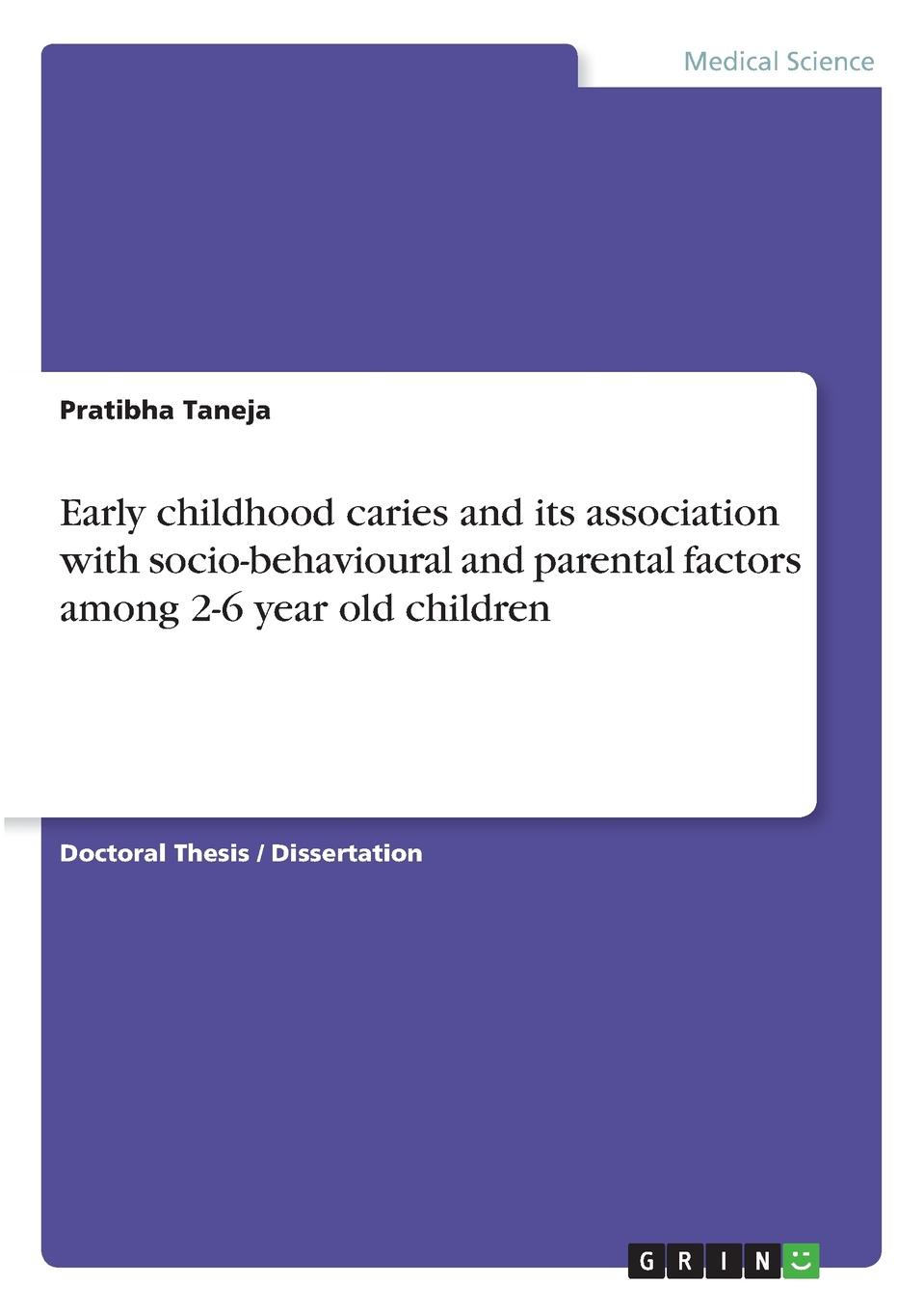 Pratibha Taneja Early childhood caries and its association with socio-behavioural and parental factors among 2-6 year old children abhishek kumar reproductive and child health among poor and non poor in urban india