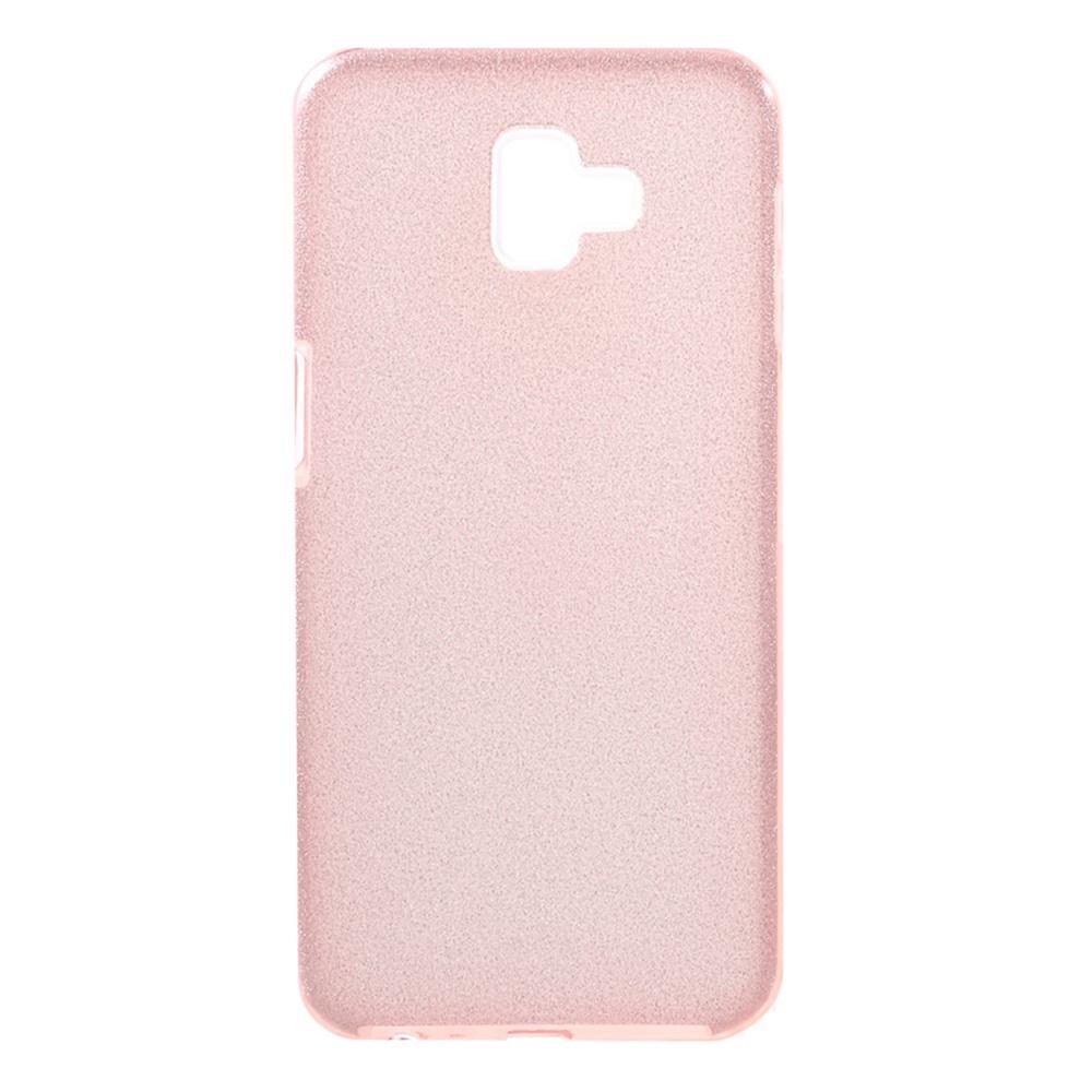 Чехол для сотового телефона Мобильная мода Samsung J6 Plus Накладка силиконовая с блестками, розовый
