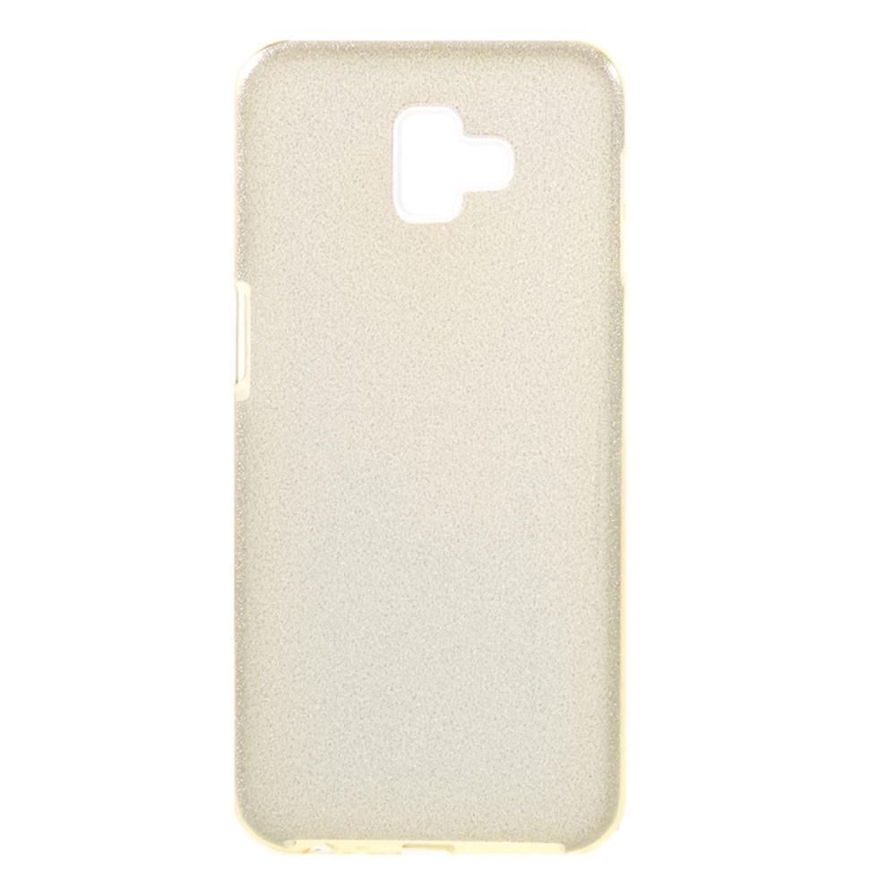 Чехол для сотового телефона Goospery Samsung J6 Plus Накладка силиконовая ламинированная пленкой Jelly Case, золотой