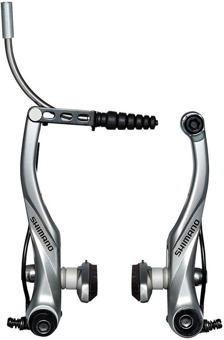 Тормоз для велосипеда Shimano v-br Alivio, T4010, задний, колодки S70C, EBRT4010RX41SSP, серебристый тормозные колодки для велосипеда shimano для дискового тормоза m07ti пара пластик y8e598020